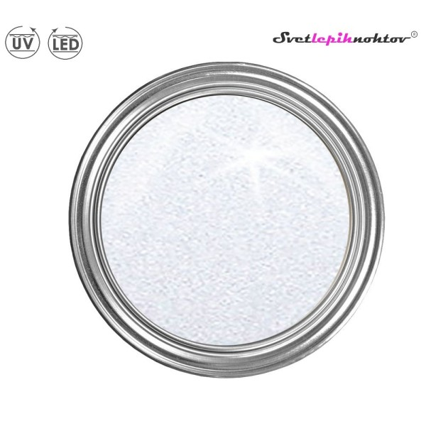 Metalik UV/LED-gel, 5 ml, bel, za barvanje nohtov