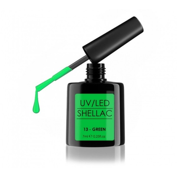 SHELLAC UV/LED-lak za nohte, 7 ml, green