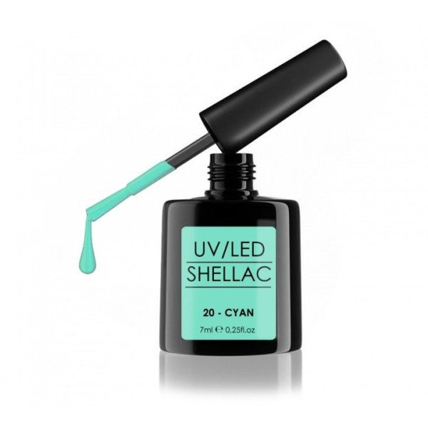 SHELLAC UV/LED-lak za nohte, 7 ml, cyan